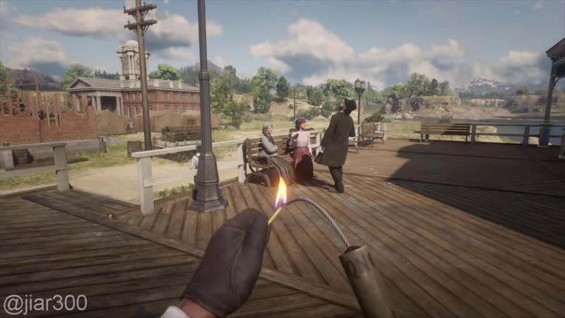 Dynamite is truly satisfying in this game. Red Dead Online