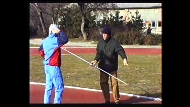 Jan Železný, training with Miklos Németh