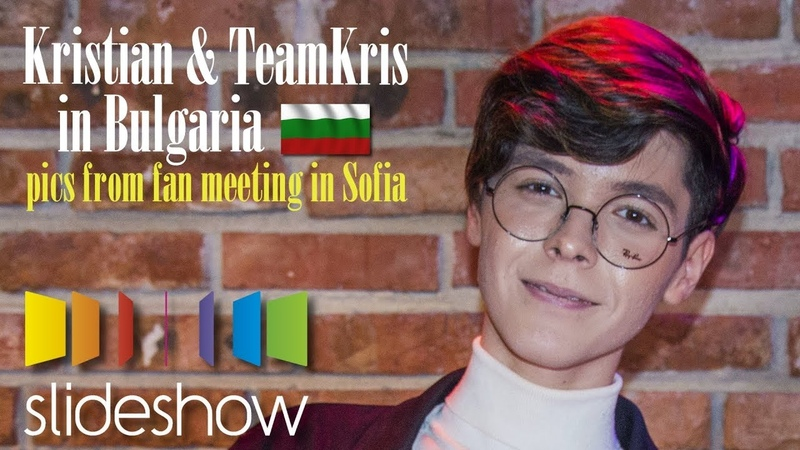 Kristian Kostov TeamKris in Bulgaria | Slideshow from fan meeting in Sofia