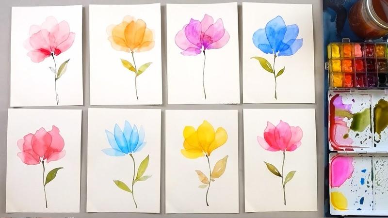 Watercolor Transparent Layering Painting Technique