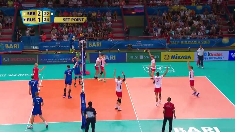 Лучшие моменты матча Россия- Сербия 2-3