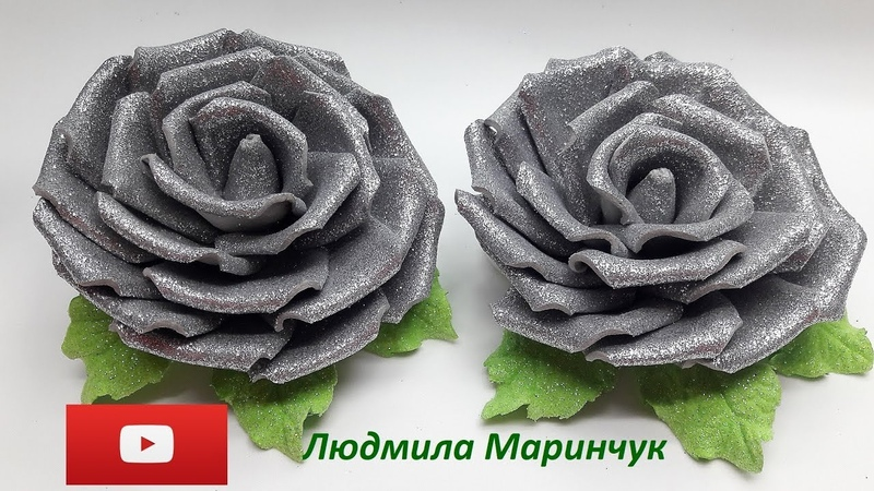 Маринчук Людмила. Резиночки к Новому году из фоамирана, МК / DIY