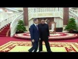 제5차 북남수뇌회담 진행 경애하는 최고령도자 김정은동지와 문재인대통령사이에 회담이 있었다
