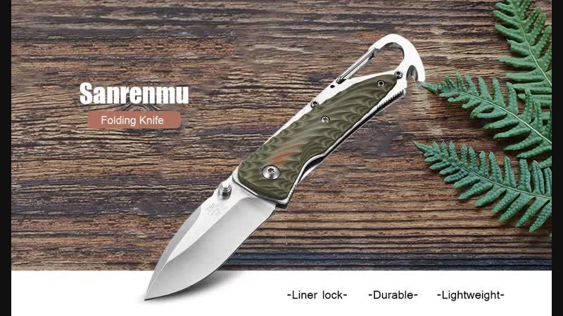 Камуфляжно-зеленый Sanrenmu 7053LUC - GVP G10 Складной нож
