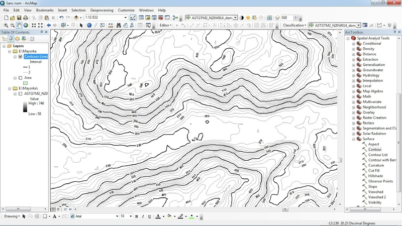 Labeling contour lines in ArcGIS