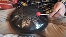 Phrygian Handmade steel tongue drum with mandala