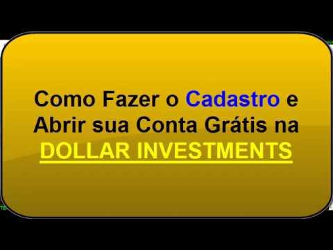 Fazer Cadastro na Dollar Investments e Ganhar Dólar em 2019