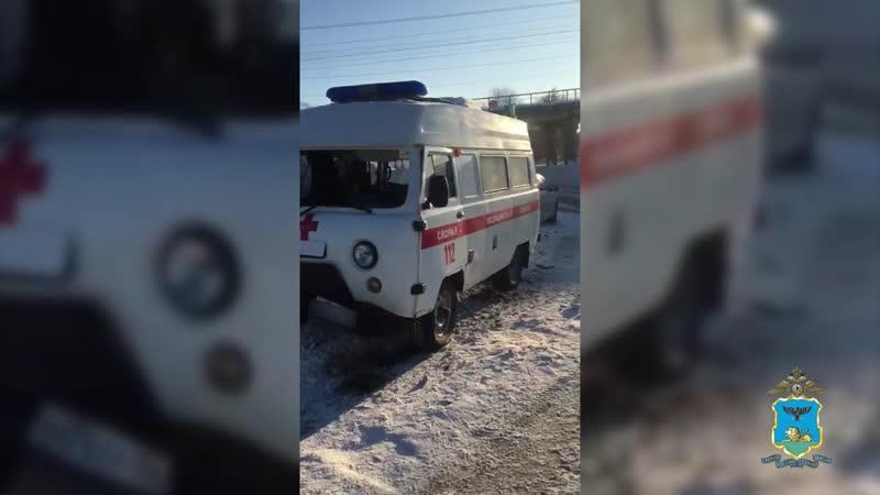 Авария со скорой помощью. Белгородский район, 25 января 2019
