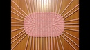 17 Как сплести овальное плетёное дно из газетных трубочек. How to make an oval bottom of basket.