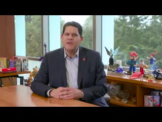 Nintendo fans, reggie has a message for all of you. please take a look.