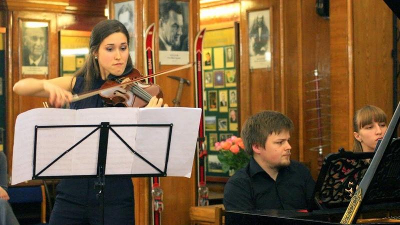 Франк - Соната для скрипки и фортепиано - Анна Трухина, Михаил Дубов - IV. Allegretto poco mosso (Москва, 2017)