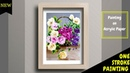 Quick and Elegant Flower Basket Painting One stroke flower basket Acrylic painting DIY