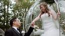 Michelle George Rose Court Garden Disneyland Wedding