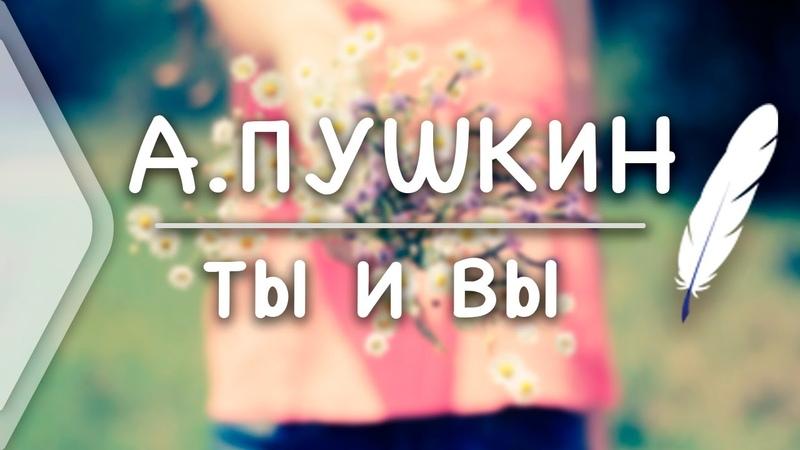 А.С.Пушкин - Ты и Вы (Стих и Я)