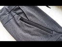 Part 1 How to sew a zipper pocket Sweatpants Jak uszyć spodnie joggery kieszń z ekspresem