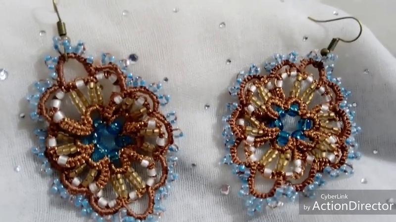 Victorian StyleTatted Lace Statement EarringsLace Handmade EarringsFrivolite Jewelry Handmade