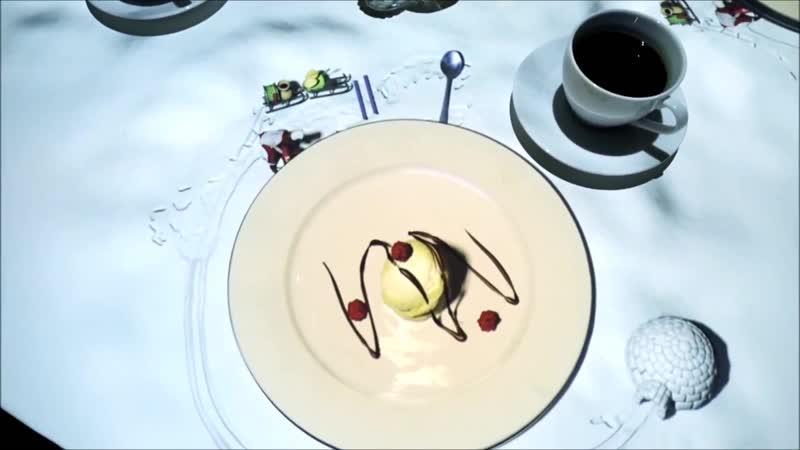 Проекция десерта в Бельгийском ресторане