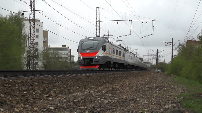 Электропоезд ЭП2Д-0007 ЦППК перегон Подмосковная - Москва-Рижская