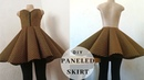 How to sew a paneled circle skirt