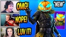 STREAMERS REACT TO *NEW* HOLLOWHEAD PUMPKIN SKIN! CARVER PICKAXE! Fortnite BR