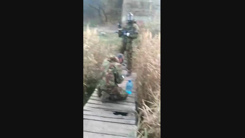 Афганистан 2018 СГ - Деактивация ёмкости с БОВ на переправе