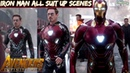 Iron Man - All Suit Up Scenes From Iron Man 1 to Avengers Infinity War - Must Watch