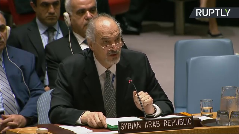 L'ENORME intervention de la Syrie à l'ONU après l'attaque du 14/04/18 ( à voir ! pas vu à la TV)
