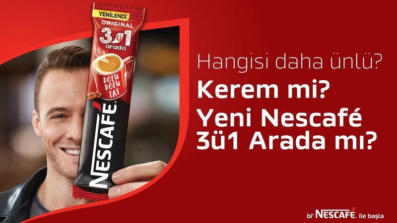 Yeni Nescafé 3ü1 Arada, eşsiz tadıyla Kerem Bursin'den bile daha ünlü!