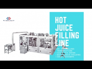 Hot fill bottled juice filling line: 3000bph-30000bph with 85-95 celsius degree 2018 (fast!)