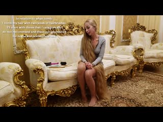 Ukrainan Rapunzel Alenas Tips How to Brush Long Hair and Choose the Right Comb (English Subtitle). 20.ХІ.2018.