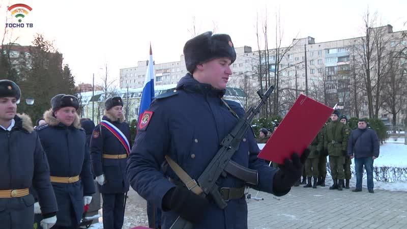 Новобранцы гвардейской части из Стекольного присягнули на верность Отечеству