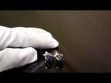 Эксклюзивные серьги-пусеты с топазом и звёздами