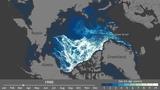 Arctic ice age, 1987-2014 in 10 sec