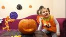 НЕ страшный Хэллоуин Весёлая тыква Фонарь Джека и добрая ведьма Non scary Halloween Nice witch