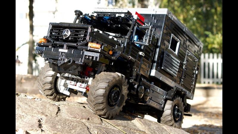 MOC Mercedes Zetros 1833 Expedition Truck 4x4 FullRC LEGO Technic MOC SBrick