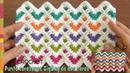 Punto Corazones zigzag tejido a crochet (dos caras) / Tejiendo Perú