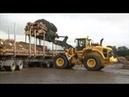 Погрузчики Volvo перевалка брёвен приёмы работ особенности управления