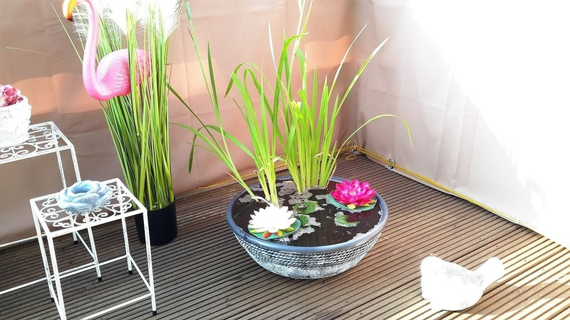 КАК СДЕЛАТЬ МИНИ ПРУД НА БАЛКОНЕ\ НИМФЕЯ...MINI POND ON THE BALCONY \ NIMFEIA.