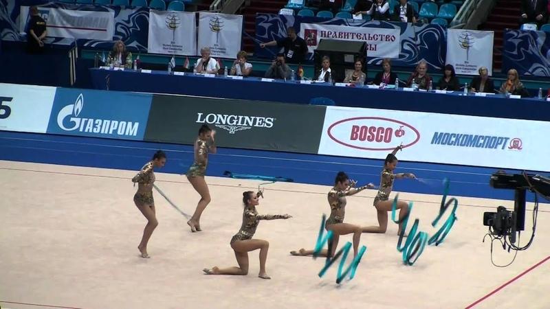Bulgaria. 3 Ribbons 2 ropes. RG WC 2010