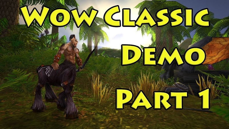 WOW Classic Demo Pt. 1 - The Barrens - World of Warcraft Classic