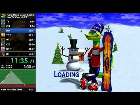Gex 3: Deep Cover Gecko - No TVC Speedrun - 52:00 [WR]