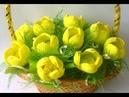 Супер-быстро Поделка на День Матери Своими Руками.Подарок Маме,Бабушке,Учителю.Тюльпаны из бумаги.