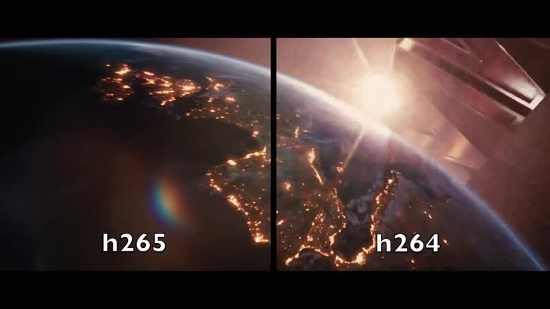 ПРИМЕРЫ ЭНКОДИРОВАНИЯ ВИДЕО - h.264 vs h.265 (1080p)