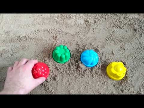 Sun sand shape red green yellow blue learn colors