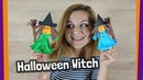 Halloween Craft for kids - Easy to make Paper Witch