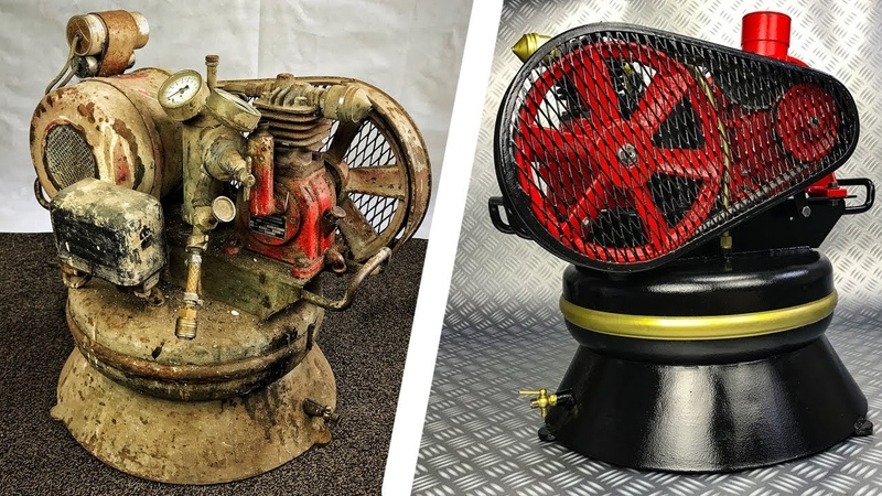 Vintage Air Compressor Restoration 1950 German 🔹 Extremely Rusty and Dirty 🔧