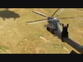 Вертолёты Ми-171 армейской авиации Ирака уничтожают боевиков ИГ в провинции Анбар.