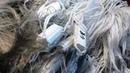 Режем новую сплавную сеть Китайку с плетёнки, Как разрезать дель для рыболовной сети