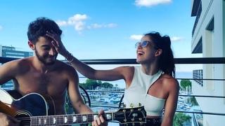 """Cande Molfese on Instagram: """"Así el lunes ... 3 horas aprox para grabar esta canción de @benjamadeo que soy fan fan #Volare ❤️⭐️☺️ El mejor guitarr..."""