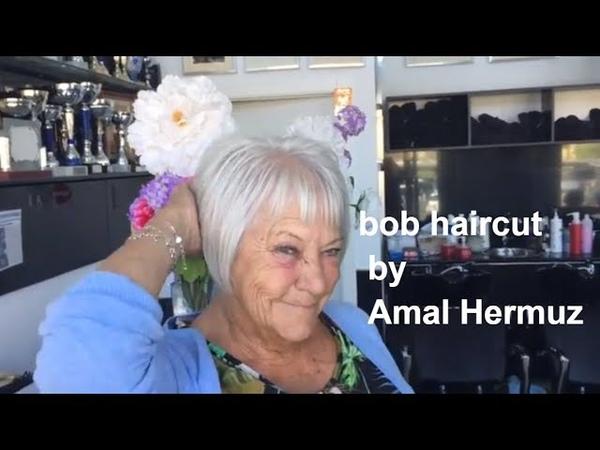 Bob haircut by Amal Hermuz-You Tube